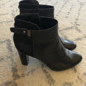 """Alfani black booties with 3"""" heel"""